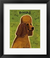 Framed Poodle (brown)