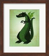 Framed Green Dragon