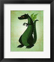 Framed Green Dragon