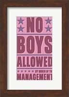 Framed No Boys Allowed
