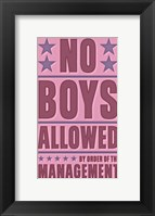Framed No Boys Allowed