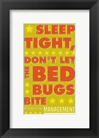 Framed Sleep Tight, Don't Let the Bedbugs Bite (green & orange)