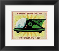 Framed Patrol Craft XT Box Art Tin Toy
