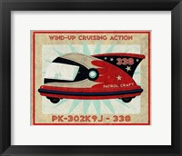 Framed Patrol Craft 338 Box Art Tin Toy