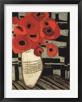 Framed Poppies on Table with Chairs