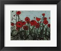 Framed Poppyfield I