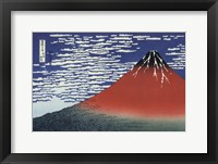 Framed Red Fuji