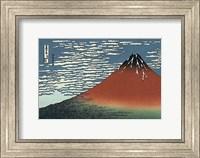 Framed Red Fuji