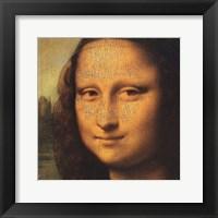 Framed Mona Lisa (detail)