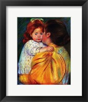 Framed Maternal Kiss 1896