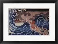 Framed Nichiren Calms a Storm in Kakuda