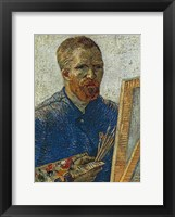 Self Portrait in Front of Easel Framed Print