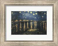 Framed Starry Night Over the Rhone