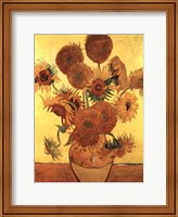 Framed Sunflowers on Gold, 1888