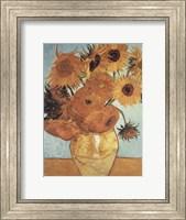 Framed Sunflowers on Blue, 1888