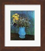 Framed Vase with Lilacs, Daisies and Anemone