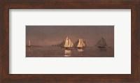 Framed Gloucester, Mackerel Fleet at Dawn, 1884