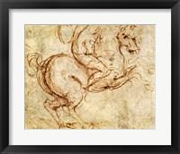 Framed Horse and Cavalier