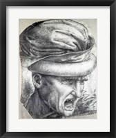 Framed Head of a Warrior