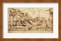Framed Perspective Study for the Background of The Adoration of the Magi