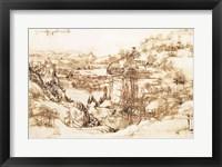 Framed Arno Landscape, 5th August, 1473