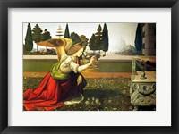 Framed Angel Gabriel, from the Annunciation, 1472-75