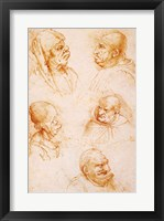 Framed Five Studies of Grotesque Faces