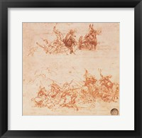 Framed Study of Horsemen in Combat and Foot Soldiers, 1503