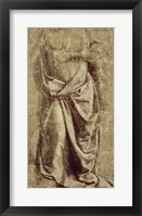 Framed Drapery Study for a Standing Figure Seen from the Front