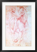 Framed Study of a Horse and Rider, c.1481