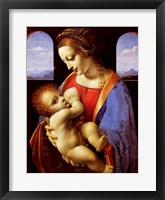 Framed Litta Madonna, 1490