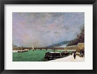 Framed Seine at the Pont d'Iena, Winter, 1875
