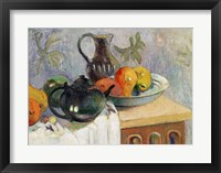 Framed Teiera, Brocca e Frutta, 1899