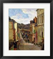 Framed Suburban Street, 1884