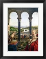Framed Rolin Madonna - Detail