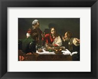 Framed Supper at Emmaus, 1601
