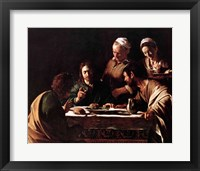 Framed Supper at Emmaus, 1606