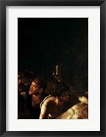 Framed Resurrection of Lazarus, Center Detail