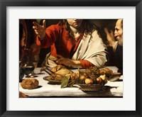 Framed Supper at Emmaus, Detail 1601