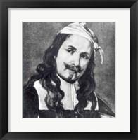 Framed Self-portrait - grayscale