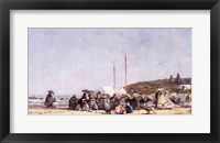 Framed Beach at Trouville, 1864
