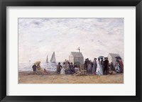 Framed Beach at Trouville, 1867