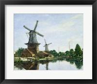 Framed Dutch Windmills, 1884