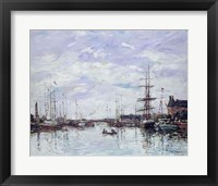 Framed Deauville, the Dock, 1892