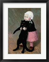 Framed Small Girl with a Cat, 1889
