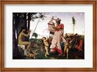 Framed Anacreon, Bacchus and Aphrodite, 1848