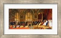 Framed Reception of Siamese Ambassadors by Emperor Napoleon III