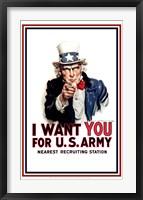 Framed Uncle Sam  - I Want You