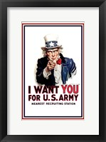 Framed Uncle Sam  - I Want You
