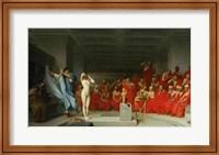 Framed Phryne Before the Jury, 1861
